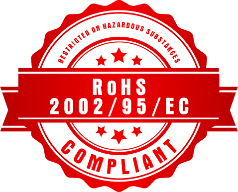 RoHS 2002/95/EC Restriction on Hazardous Substances Compliant