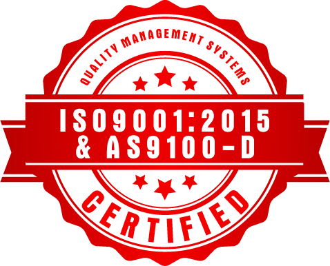 ISO9001:2015 & AS9100-D Certified
